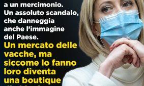Meloni al «Corriere della Sera»: «È un governo retto da voltagabbana e senza i numeri. Le urne sono la via»