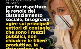 Giorgia Meloni a «Libero»: «Draghi ha deluso sui ristori, non c'è discontinuità con Conte»