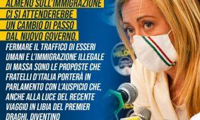 Giorgia Meloni a «Leggo»: «I dati sugli sbarchi sono l'emblema del fallimento delle politiche italiane sull'immigrazione, ma il Governo pensa allo ius soli»