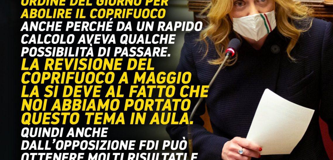 Giorgia Meloni a «La Stampa»: «Non provochiamo Lega e Forza Italia, li aiutiamo a difendersi dalla sinistra»