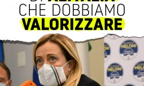 Giorgia Meloni a Draghi: «Il patrimonio di Alitalia che dobbiamo valorizzare»