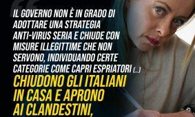 Giorgia Meloni a Libero: «A Draghi propongo appuntamenti a scadenze fisse per ragionare sulle priorità dell