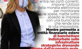 Giorgia Meloni a «Milano Finanza»: «Lo Stato difenda con vigore tutti gli asset strategici. Guardia alta sui gioielli italiani»