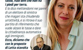 Giorgia Meloni a «La Verità»: «Draghi asseconda la sinistra e Letta è un marziano»