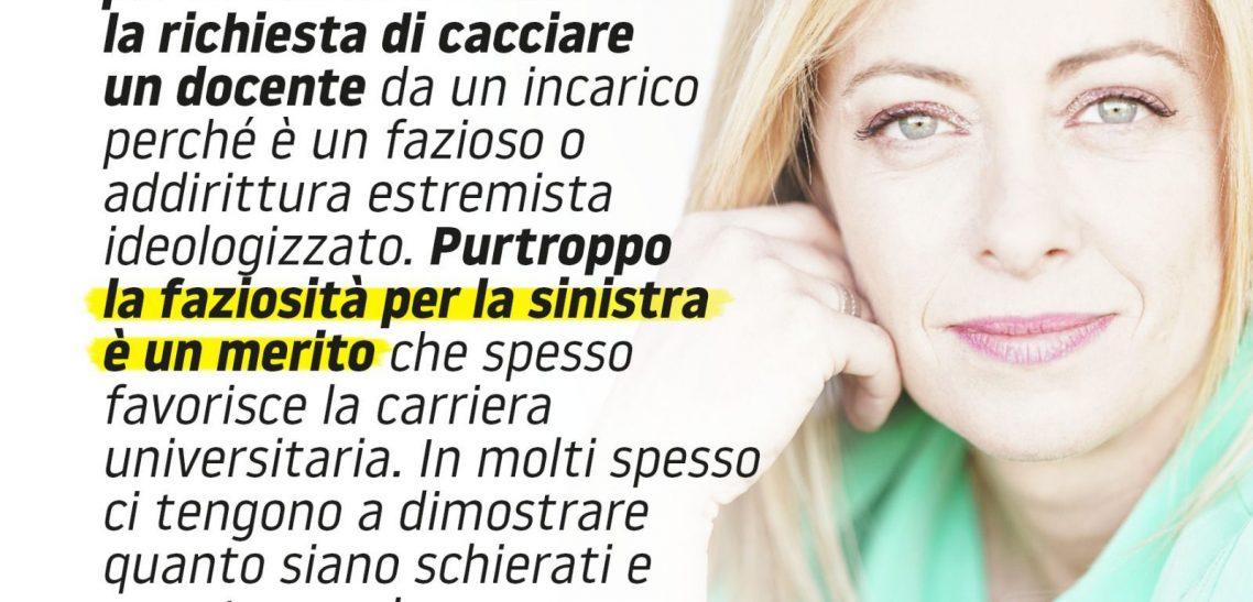 Giorgia Meloni a «La Verità»: «Per questa sinistra odiarmi è un merito»